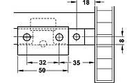 Комплект фурнитуры CLASSIC 50 VF S для двух раздвижных дверей19-21 мм
