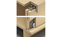 Фурнитура для раздвижных деревянных дверей внутреннего крепления для 2х дверных полотен с регулировкой