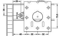 Комплект фурнитуры CLASSIC 50VF S для двух раздвижных дверей 22-27 мм