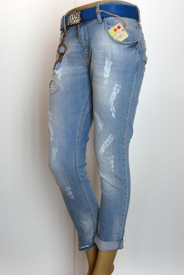 Жіночі джинси бойфренди легко рвані Sherocco 91e30309c9b3f