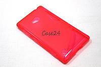 Чехол накладка для Nokia Lumia 720 розовый