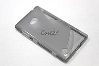 Чехол накладка для Nokia Lumia 720 серый, фото 1