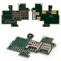 Коннектор SIM-карты для мобильных телефонов Sony C1904 Xperia M, C1905 Xperia M, с коннектором карты памяти, со шлейфом
