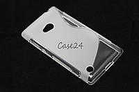 Чехол накладка для Nokia Lumia 720 матовый/прозрачный