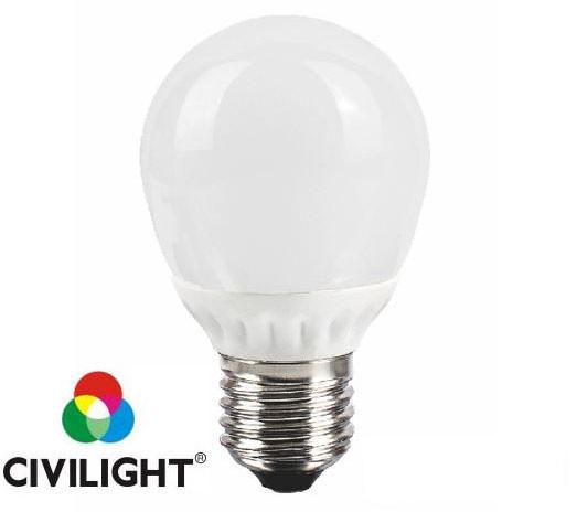 Светодиодная лампочка  5Вт 3000К CRI80 Е27 G45 WF35T5 ceramic CIVILIGHT 4985