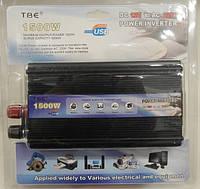 Перетворювач TBE-1500W 12V-220V/1500W/USB/клеми