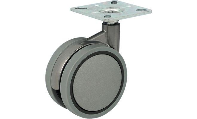 Ролик D75мм, М10х15мм, 50 кг, без стопора