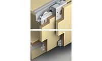 Комплект фурнитуры SLIDO CLASSIC 50 VF SR для 2-х дверных полотен толщиной 22-27мм