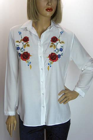 Біла блузка з вишитими квітами Swanky, фото 2