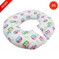 Подушка для беременных KIDIGO Рогалик - Сова (с наволочкой)