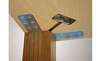 Комплект фурнитуры для ножки стола от 70х70 мм до 120х120 мм, оцинкованный