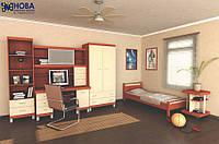 Детская комната ТОП с шкафом, пеналом, письменным столом с надставкой, тумба для оргтехники