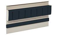 Держатель для ножей магнитный сталь / пластик Цвет: серый / черный 350x45x200мм