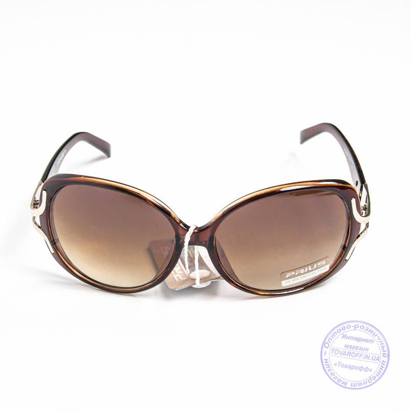Розпродаж жіночих сонячних окулярів оптом - Коричневі - 3554, фото 2