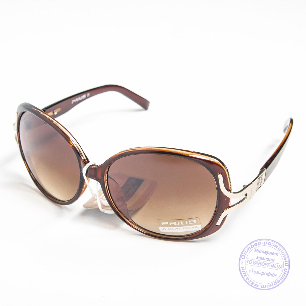 Розпродаж жіночих сонячних окулярів оптом - Коричневі - 3554