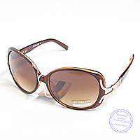 Распродажа женских солнечных очков оптом - Коричневые - 3554