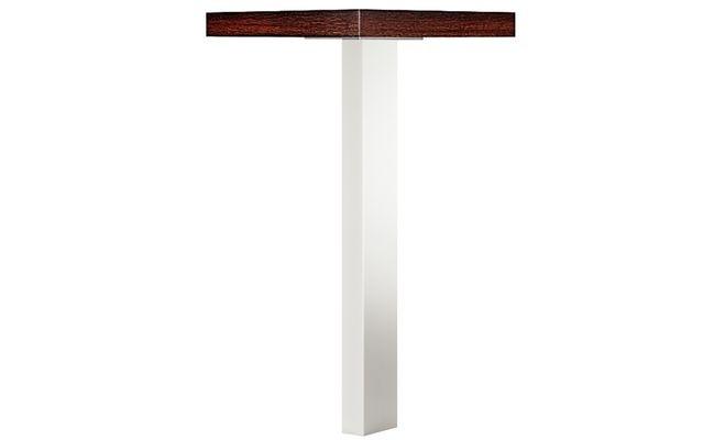 Ножка для стола прямоугольная 100х50 хромированная