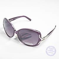 Распродажа женских солнечных очков оптом - Фиолетовые - 3554
