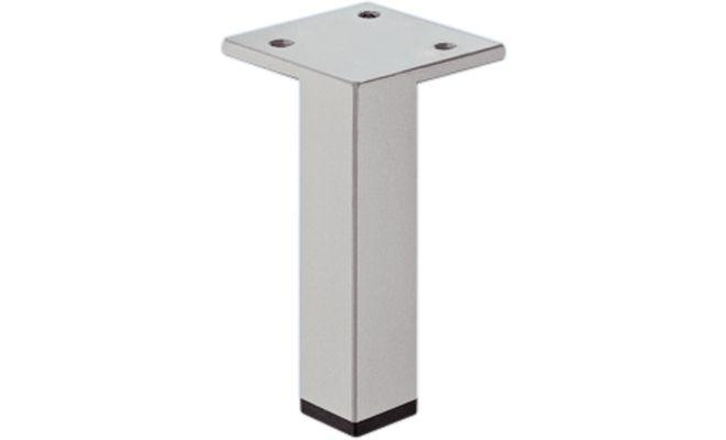 Ножка мебельная с пластиной сталь цвет алюминий 80мм
