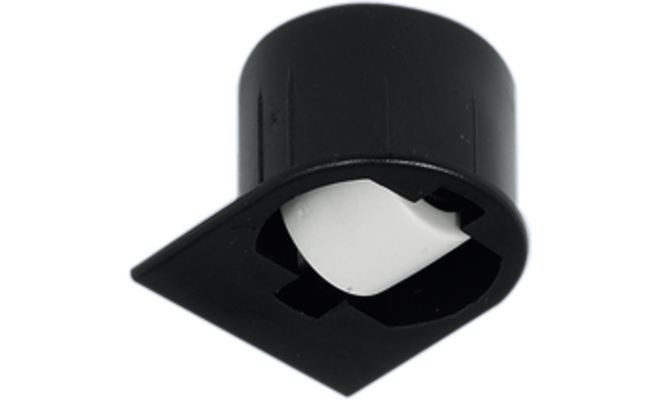Мебельный ролик стационарный пластмасса черный 31мм, 1 мм, для мягкой поверхности