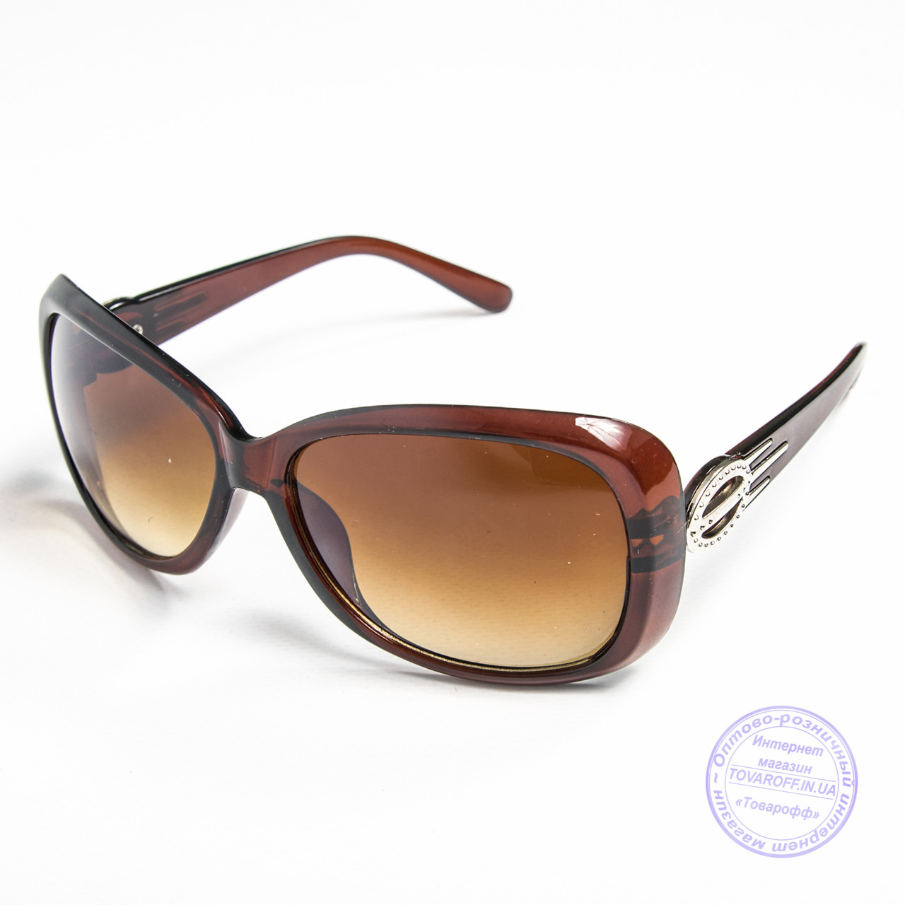Распродажа женских солнечных очков оптом - Коричневые - 9974
