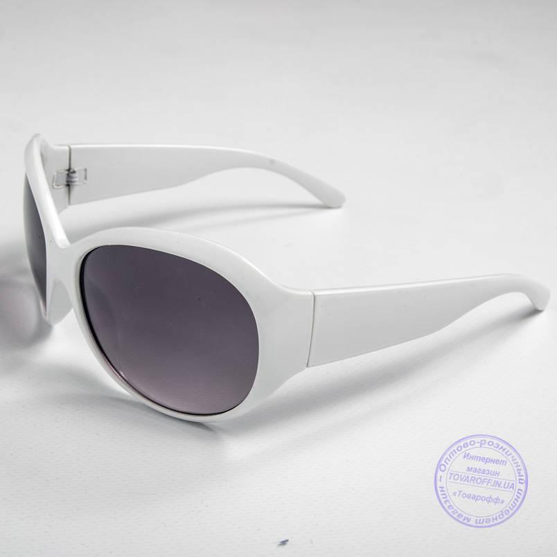 Розпродаж жіночих сонячних окулярів оптом - Білі - D76, фото 2