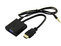 Адаптер-переходник HDMI-VGA  с аудио