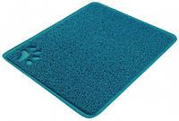 Коврик Trixie Litter Tray Mat для туалета кошек ПВХ синий, 37х45 см