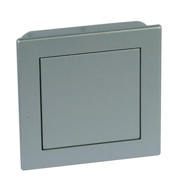 Ручка нажимная, серый контур, серая кнопка, 78х78 мм