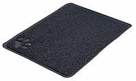 Коврик Trixie Litter Tray Mat для туалета кошек ПВХ антрацит, 40х60 см