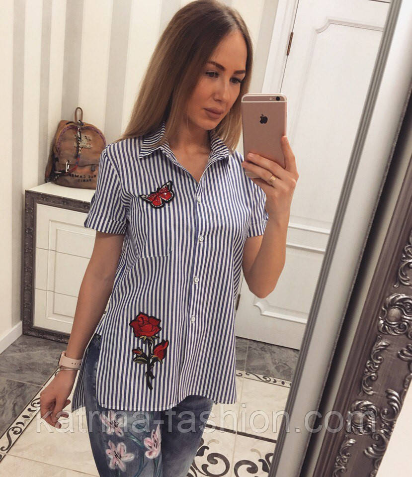 Модные женские рубашки с вышивкой