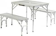 Кемпинговая мебель HXPT-8829-X: 2 лавки, стол, каркас из металла, складывается в кейс