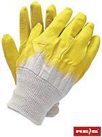Защитные проклеенные перчатки, отделанные резинкой RGS BEY