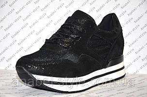 Кроссовки летние стильные черного цвета Код 355, фото 2