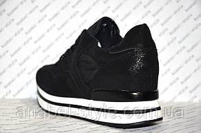 Кроссовки летние стильные черного цвета Код 355, фото 3