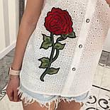 Женская модная летняя рубашка/блуза из прошвы с вышивкой (расцветки), фото 5
