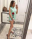 Женская модная летняя рубашка/блуза из прошвы с вышивкой (расцветки), фото 6