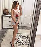 Женская модная летняя рубашка/блуза из прошвы с вышивкой (расцветки), фото 8