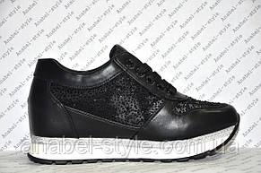 Кроссовки летние женские черного цвета со стразами Код 353, фото 2