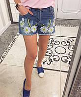 Женские модные джинсовые шорты с аппликацией