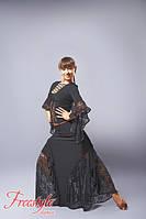 Юбка для бальных танцев с гипюровыми вставками 102 р. 30 - р. 46, фото 1