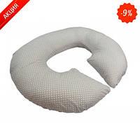 Подушка для беременных KIDIGO Рогалик - Горошек (с наволочкой) (Kidigo)