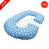 Подушка для беременных KIDIGO Рогалик - Облака (с наволочкой) (Kidigo)