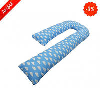 Подушка для беременных KIDIGO J - образная Тучки (с наволочкой) (Kidigo)