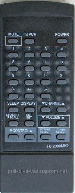 Пульт от телевизора FUNAI. Модель TV-2000MK2