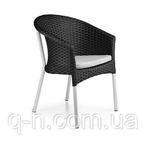 Кресло neapol плетеное из искусственного ротанга 68x47x79 см, фото 2