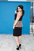 Платье женское чёрное баска ВВ/-03