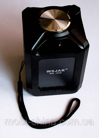 Портативная колонка WSJAR WS-608 Bluetooth Black, фото 2