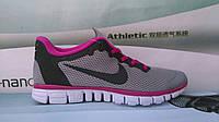 Женские кроссовки NIKE FREE RUN 3.0 серые с сиреневым
