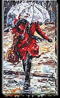 Набор для вышивания бисером на художественном холсте История любви-3